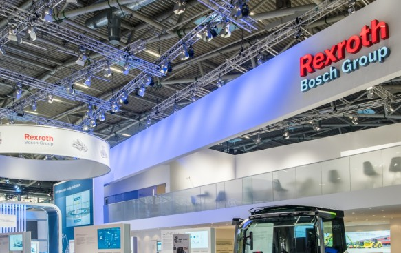 baum Bosch Rexroth Messestand